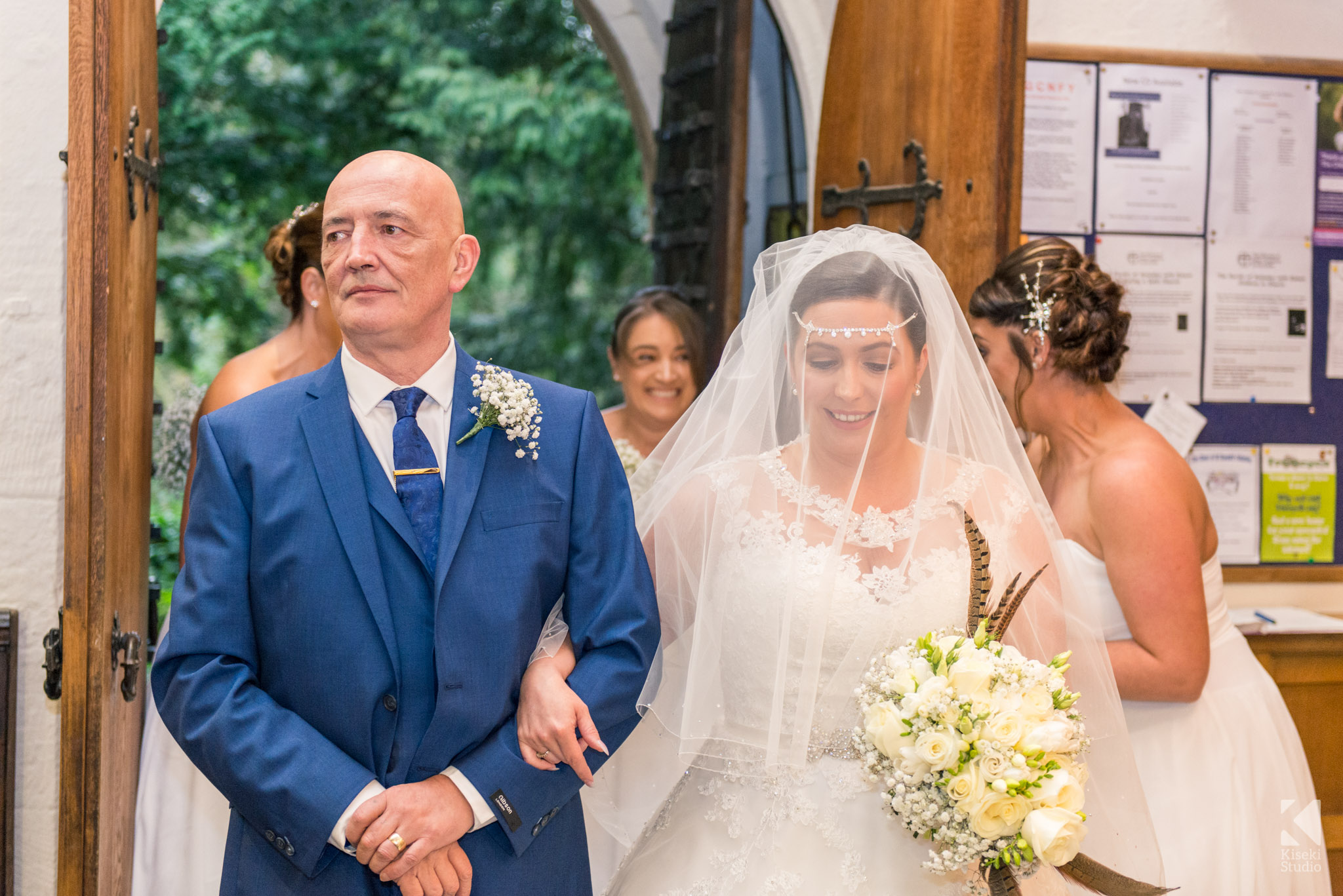Bride and Father entering the church