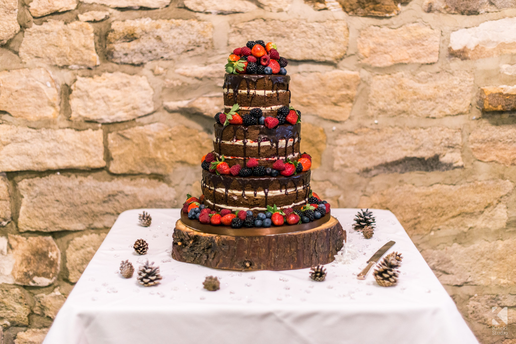 Wedding cake chocolate in The Old Barn