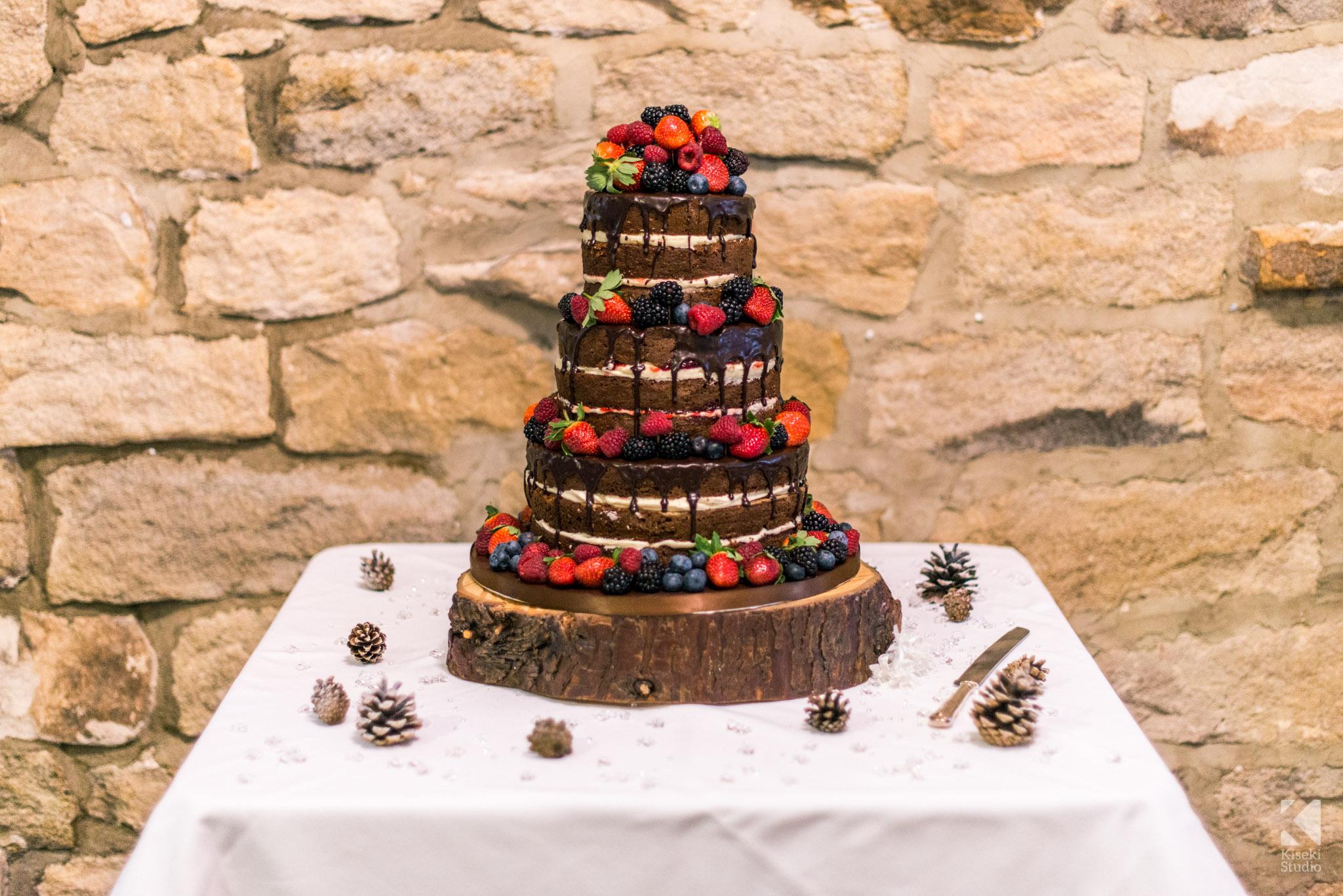 Wedding cake chocolate in The Old Barn
