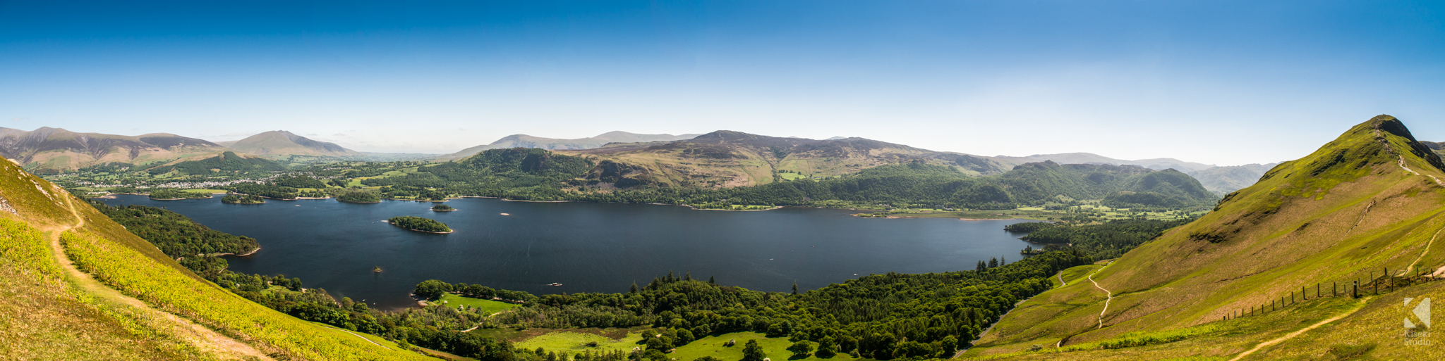 Derwentwater Panorama from Cat Bells