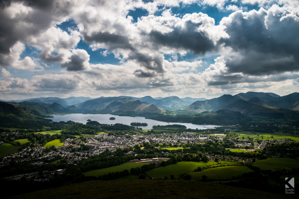Keswick from Latrigg, moody vista