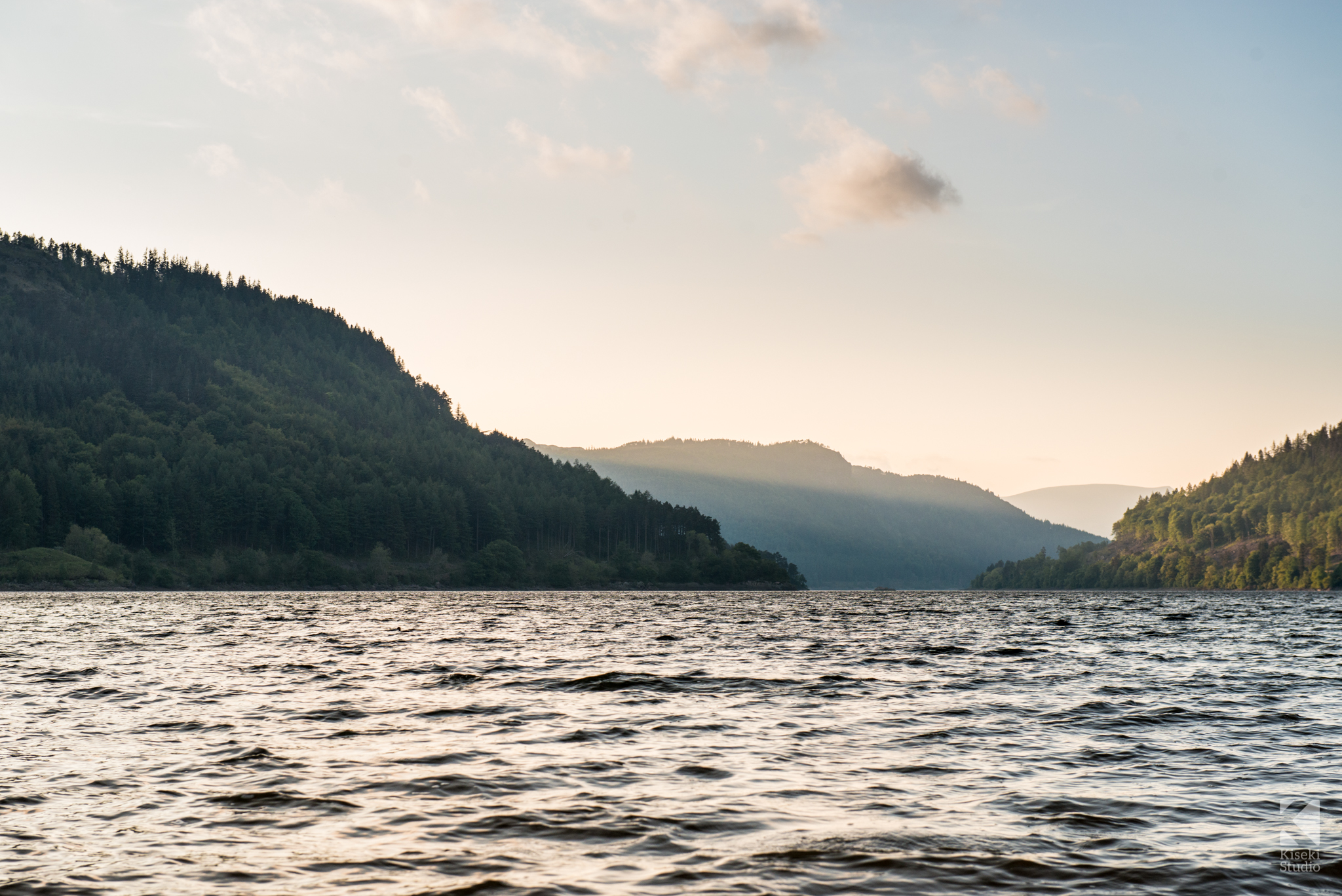 Thirlmere reservoir at sunset