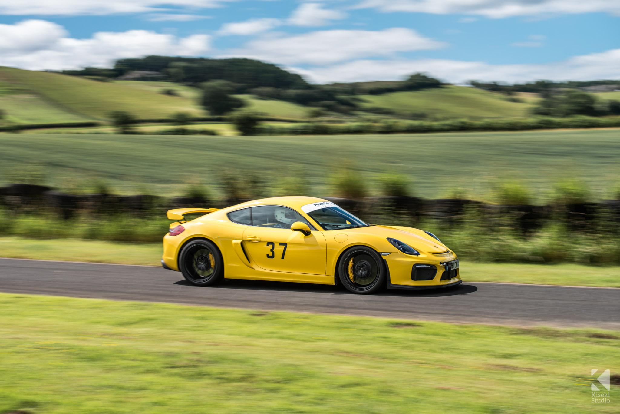 porsche-cayman-gt4-yellow-gorgeous-harewood-speed-hillclimb
