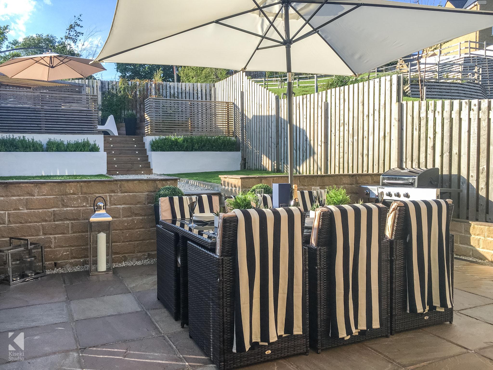 Modern Property Interior Garden Patio Neutral Furnished Fresh Bright Warm in Baildon