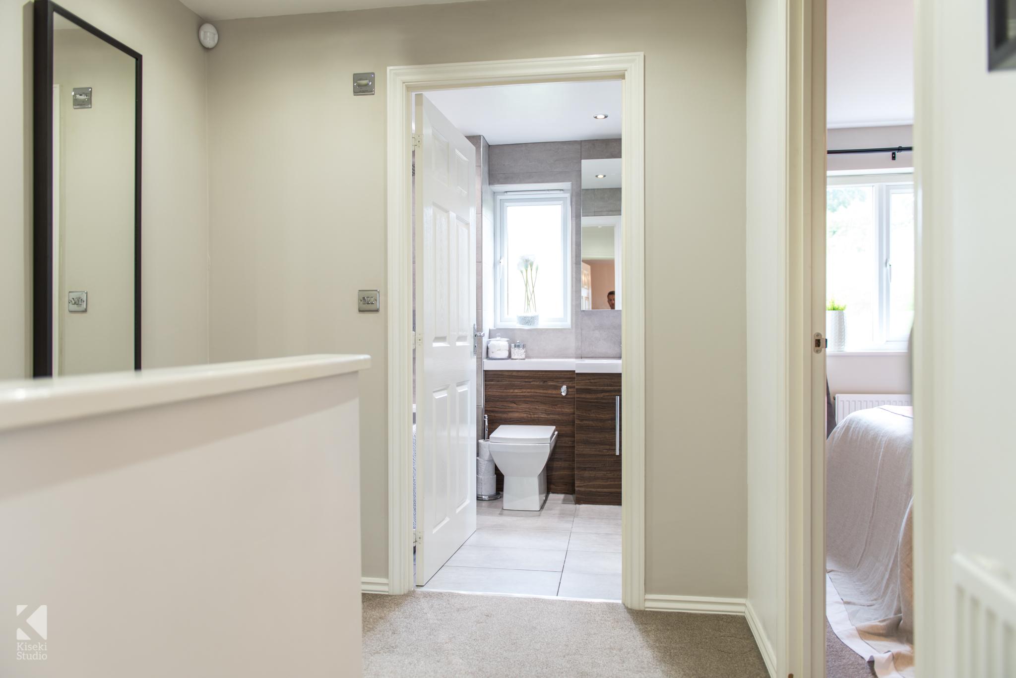 Modern Property Interior Landing Neutral Furnished Fresh Bright Warm in Baildon