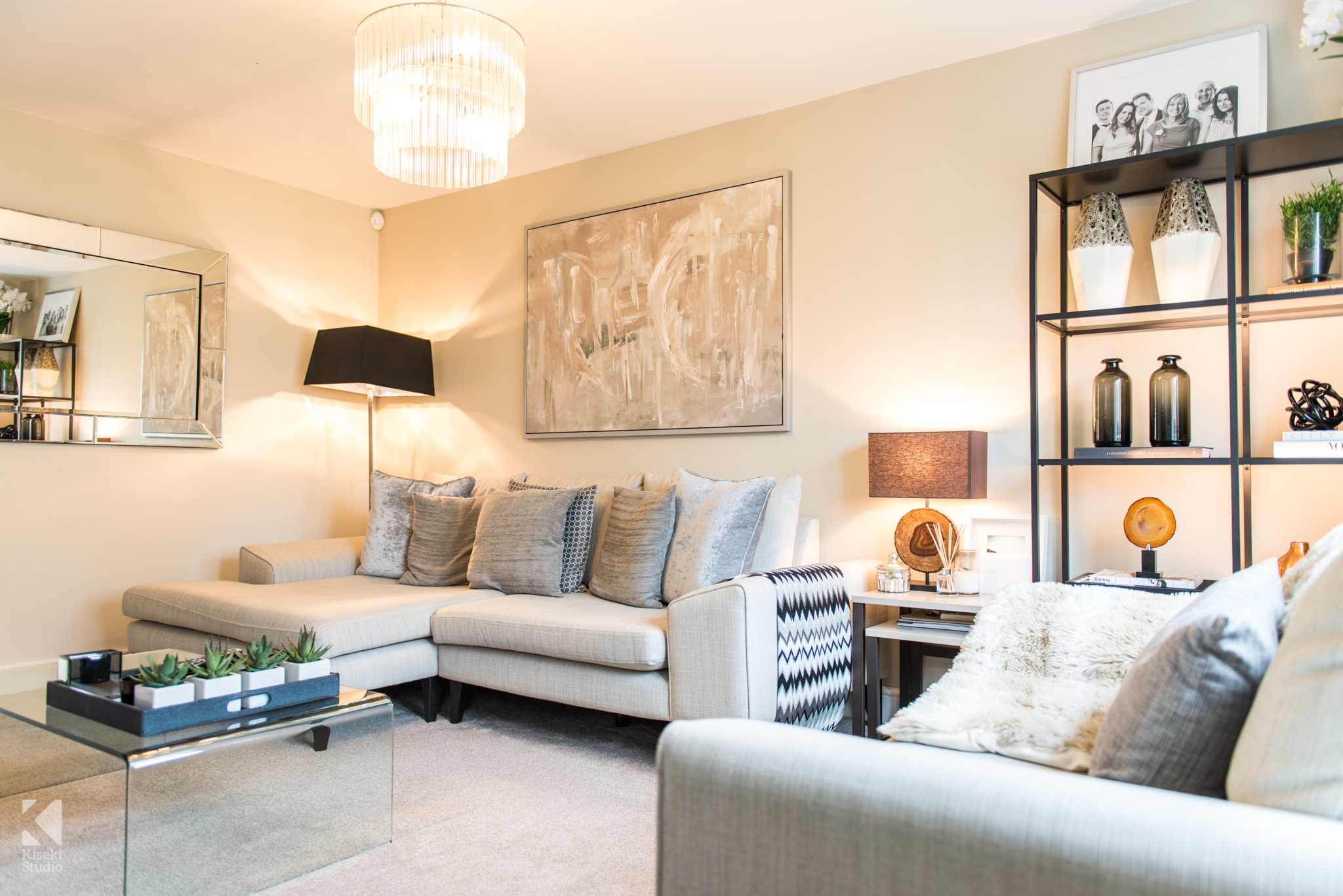 Modern Property Interior Living Room Neutral Furnished Fresh Bright Warm in Baildon