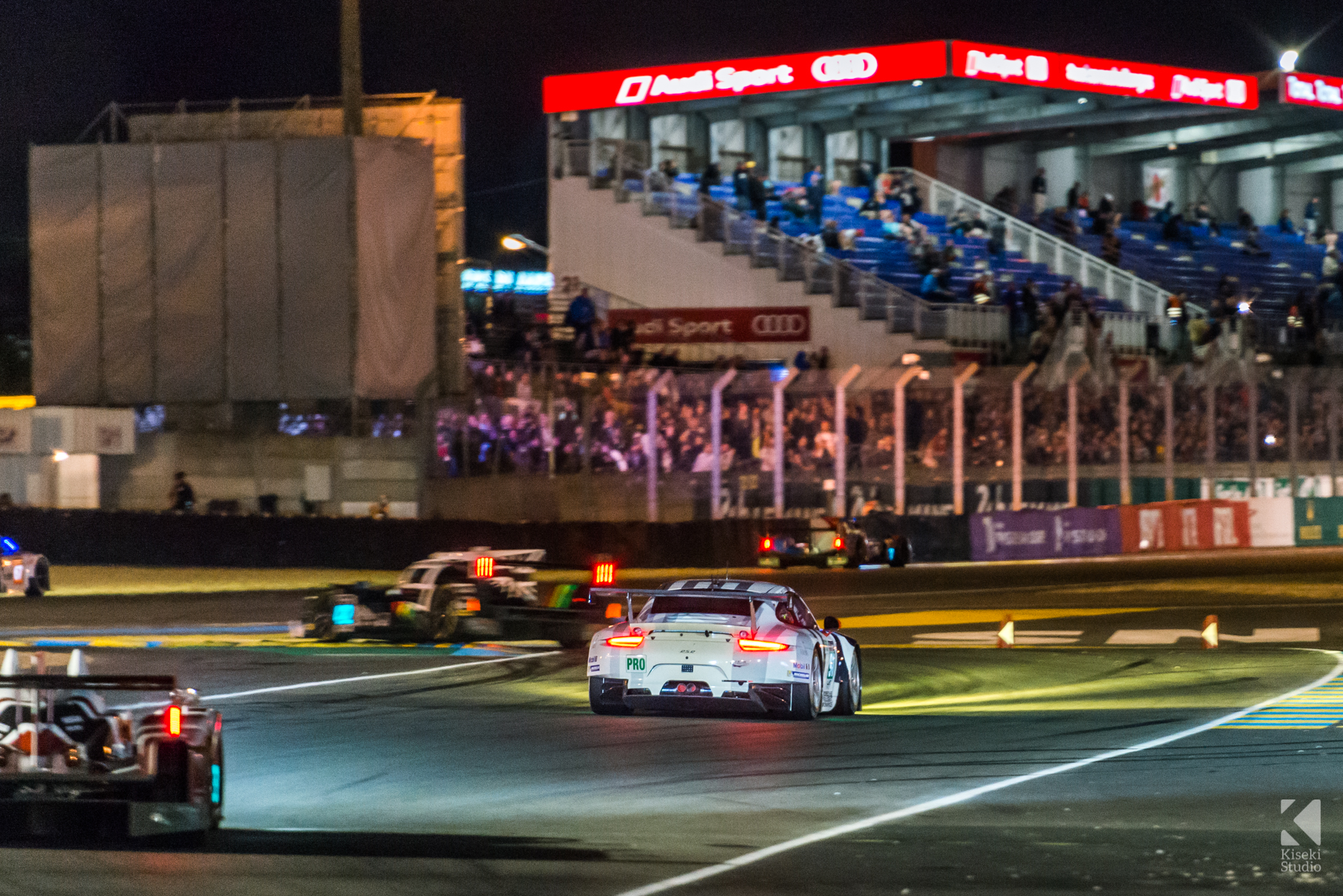 24 Hours of Le Mans 2015 - Start Finish at Night