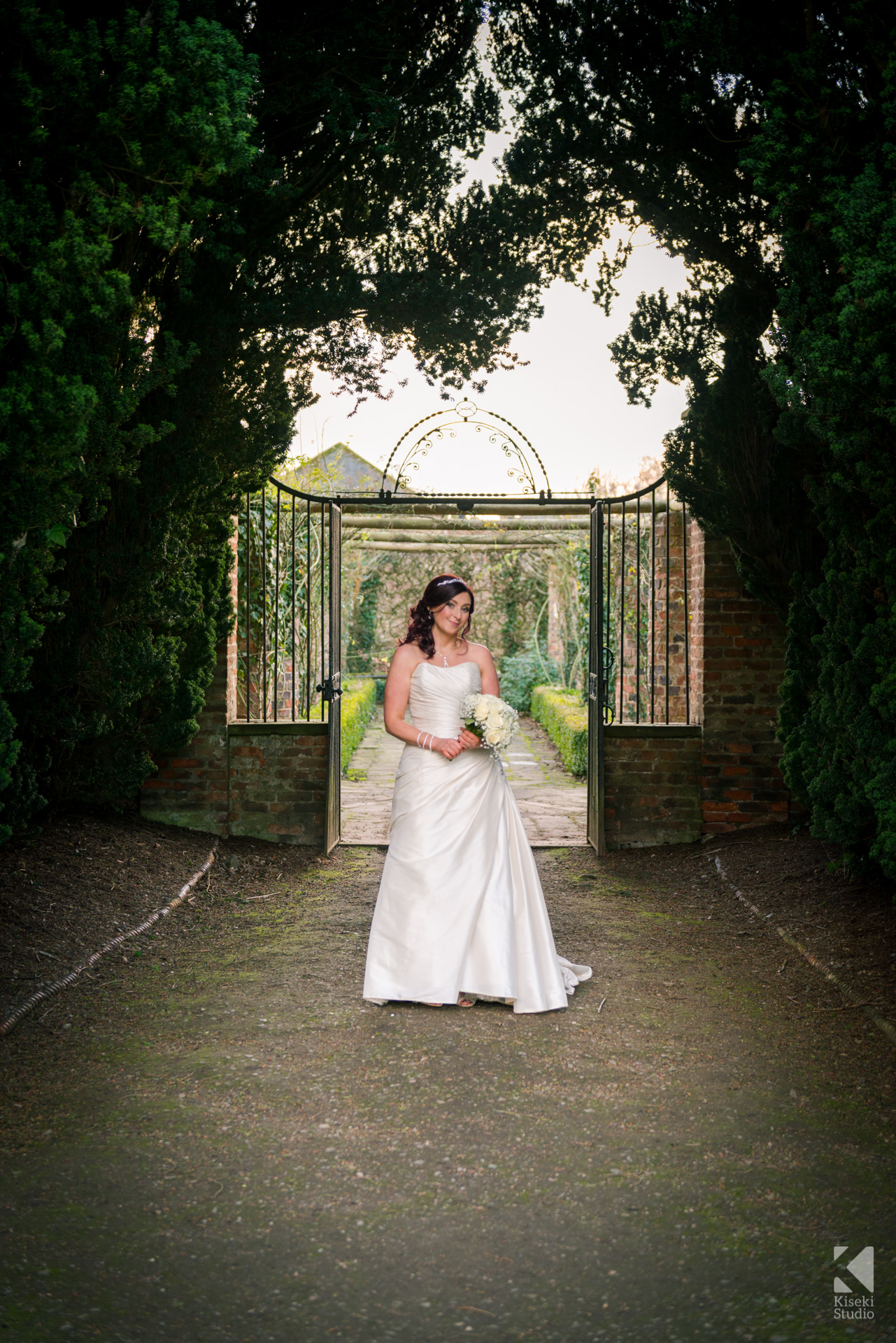 Ripley Castle Wedding - Beautiful Bride outside in the grounds