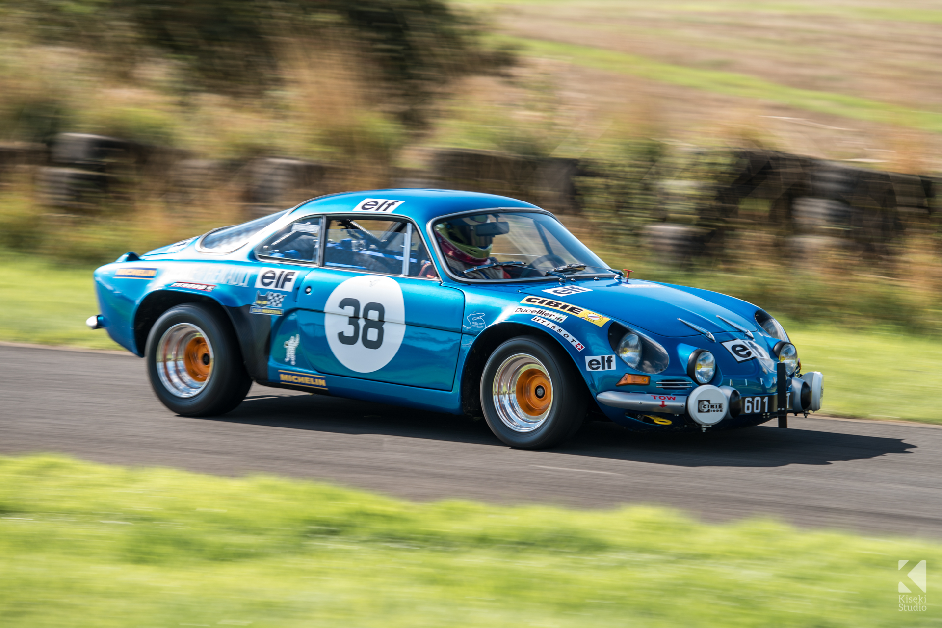 Renault Alpine A110 rally style at Harewood Hillclimb