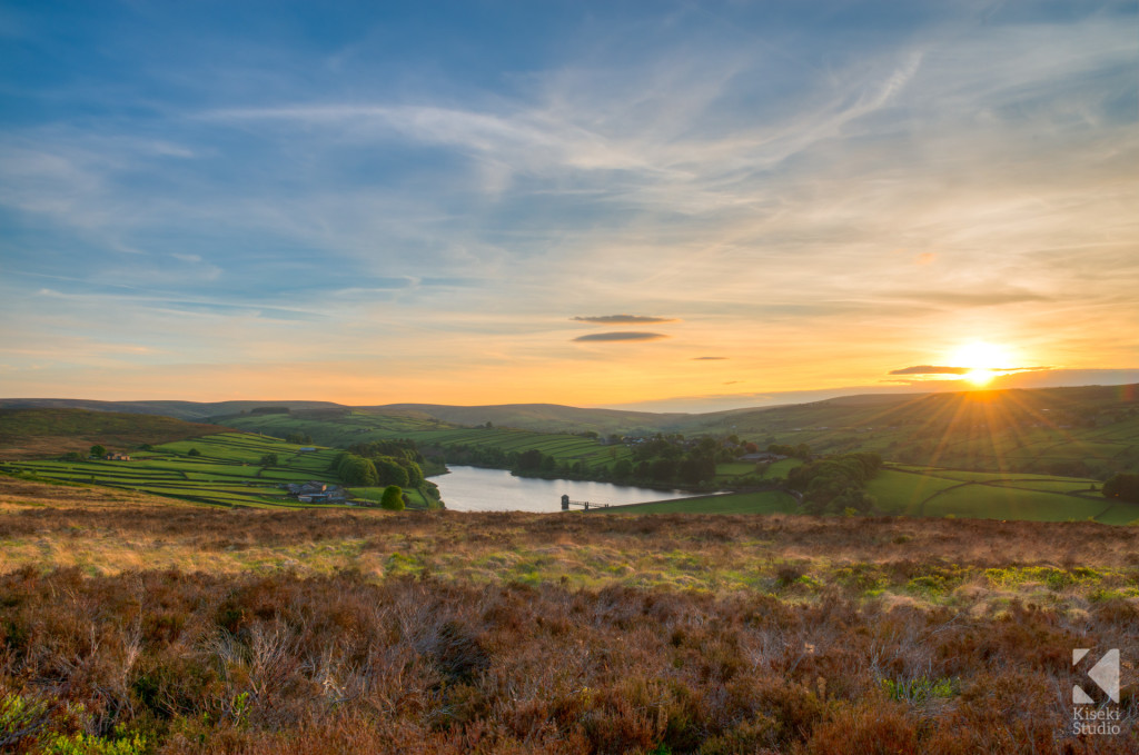 Bronte Country Sunset over Stanbury